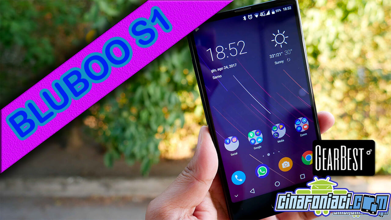 Bluboo S1 - Smartphone bezelless con dual cam Sony - Recensione