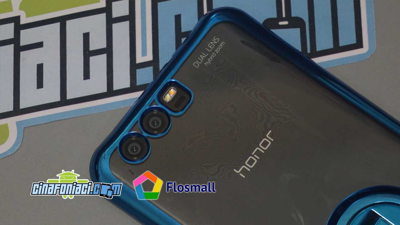 Accessori per Honor 9 by Flosmall: cover con stand e vetro temperato