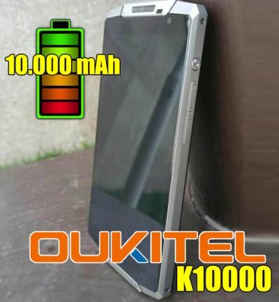 Oukitel K10000: uno smartphone con batteria da 10.000 Mah!