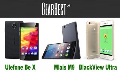 Gearbest , tre codici sconto per chi una budget inferiore a 100 euro: Mlais M9 , Ulefone Be X e Blackview Ultra