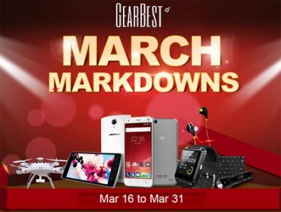 Gearbest: offerte e premi per il March Markdown!
