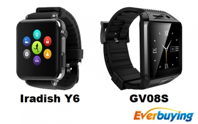 Iradish Y6 e GV08S: due smartwatch economici con supporto SIM in offerta su Everbuying