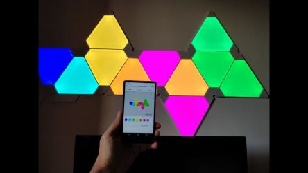 Nanoleaf Light Panels Aurora In Action 4